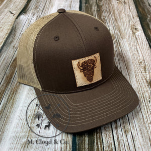 Buffalo Leather Patch Hat