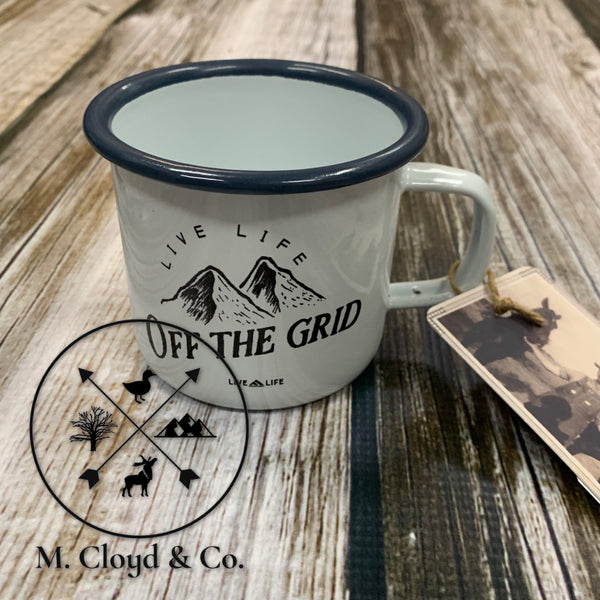 Live Life Off The Grid Enamel Mug