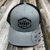 Rodeo Ranch Classic Logo Black & Grey Snapback Hat