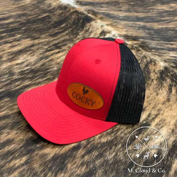 Man Beard Co • Cocky • Red Snapback Hat