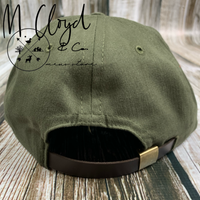 The Ampal Creative Don't Think Twice Olive Strap Back Hat