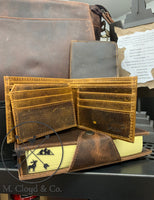KODIAK LEATHER Bifold Wallet [ANTIQUE BROWN]