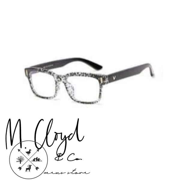 Mens Blue Light Blocking Glasses [Refined Black & White]
