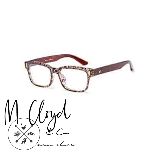 Mens Blue Light Blocking Glasses [Refined Brown & White]