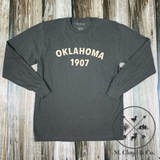 Oklahoma Heritage 1907 Pepper Long Sleeve Tee S, M, L, XL, 2X