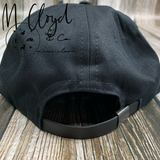 The Ampal Creative Forever Two Wheels Black Strap Back Hat