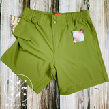 Burlebo [SHORTS] Wild Green Duck & Dog Pockets Performance Shorts Size S, M, L, XL, 2X