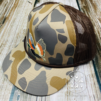 Burlebo 🧢 Hat Retro Camo Duck Snap Back Rope Cap