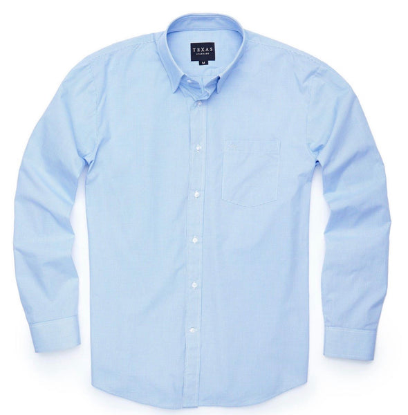 TEXAS STANDARD Microcheck Sport Shirt [LIGHT BLUE] S, M, L, XL