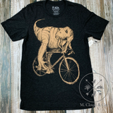 Dark Cycle T Rex on a Bike Bicycle Tee Size L, XL, 2X