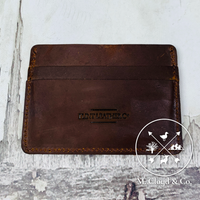 Flint Leather Co. Ultra Slim Wallet [BROWN SHOCKA]