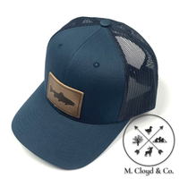 Range Leather Co. Trout Snapback Hat [NAVY]
