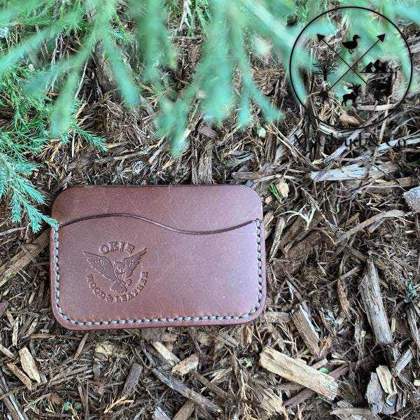 Okie Wood & Leather Horween Leather Card Wallet