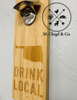 Wall Mount Bottle Opener [OKLAHOMA] with Magnetic Catch