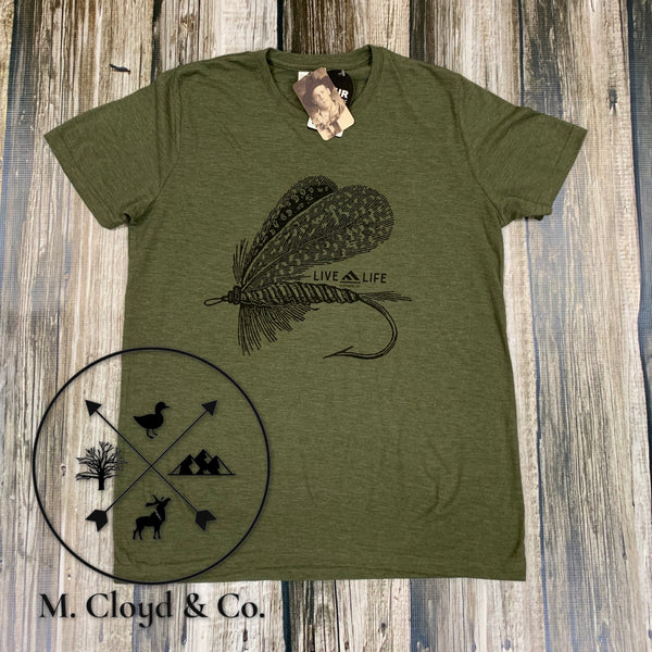 [50% off] Live Life Fly Life Green Tee Size 2X