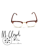 Mens Blue Light Blocking Glasses [Retro Transparent Brown Gold]