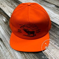 The Ampal Creative Wild Things in Wild Places Blaze Orange Strap Back Hat