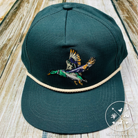 Burlebo 🧢 Hat Diving Duck Snap Back Rope Cap