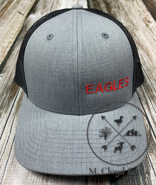 EAGLES in Red • Grey Snapback Hat
