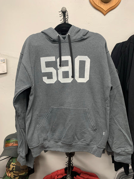 OKLAHOMA 580 Heather Charcoal Hoodie Size M, L, XL [2X is backordered]