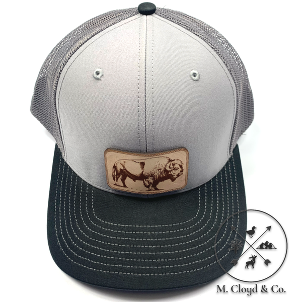 DIAMOND BILLS Buffalo Nomad Grey Snapback Hat