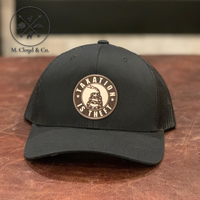 TAXATION IS THEFT Leather Patch Snapback Hat