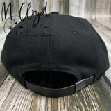 The Ampal Creative Lone Surfer Black Strap Back Hat