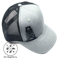 DIAMOND BILLS Oil Derrick Black Gold Grey Snapback Hat