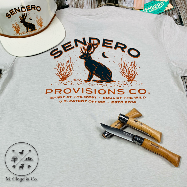 Sendero Provisions Co. Jackalope Tee Size S, M, XL, 2X