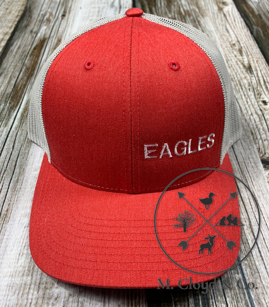 EAGLES in White • Red Snapback Hat
