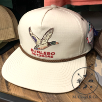 Burlebo Hat Outdoors Duck Snap Back Rope Cap