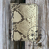 Okie Wood & Leather Python Wallet