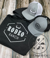 Rodeo Ranch Classic Logo Heather Graphite Hoodie Size M & L