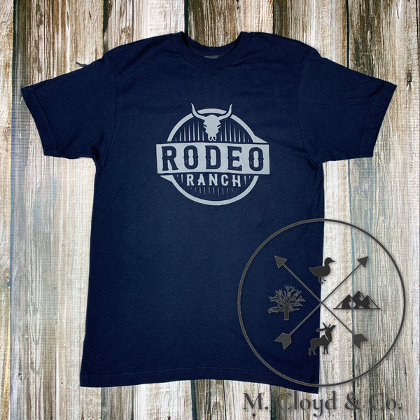 Rodeo Ranch Sharp Steer Navy Tee Size M, L, XL, 2X
