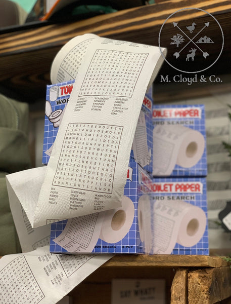 Word Search Novelty Toilet Paper [GAG GIFT]
