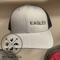 EAGLES in Black • Grey Snapback Trucker Hat