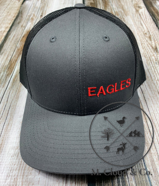 EAGLES in Red • Slate Snapback Hat