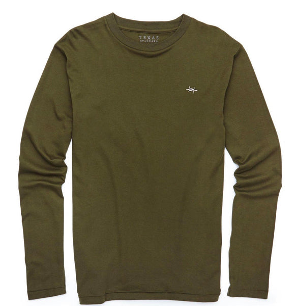 TEXAS STANDARD Standard Long Sleeve Prima Cotton Tee [HUNTER GREEN] Size L, 2X, 3X