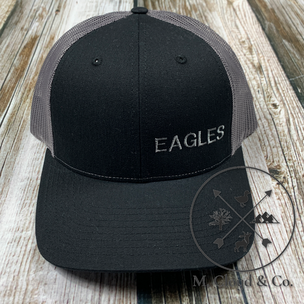 EAGLES in Grey • Black Snapback Hat
