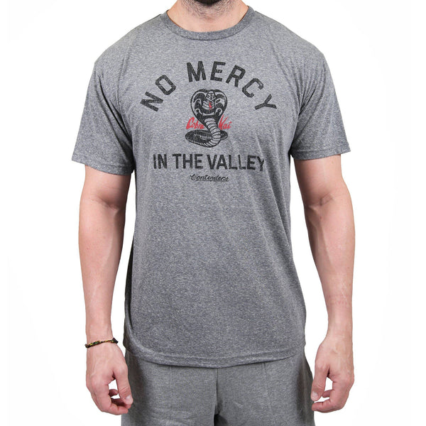 Contenders Clothing Cobra Kai No Mercy Grey Tee Size M, L, XL, 2X