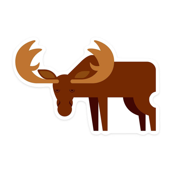 Moose Geometric Sticker