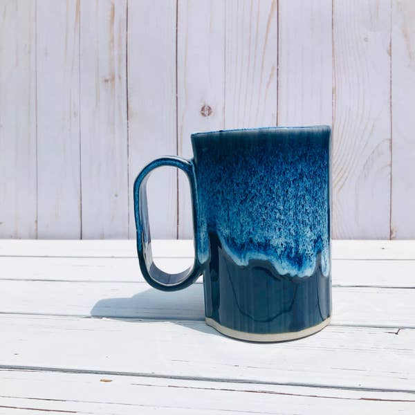 Bay Pottery Navy Large Bay Mug 16oz