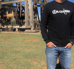 Oilchasers Night Train Long Sleeve Tee Size M, L, XL, 2X