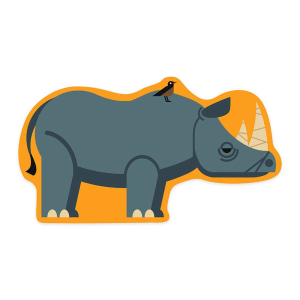Rhino Geometric Sticker