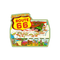 New Mexico Route 66 Map Sticker