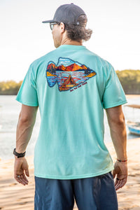 Burlebo See You Out There Heather Island Reef Tee Size M, L, XL, 2X