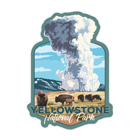 Wyoming Yellowstone National Park Old Faithful Sticker