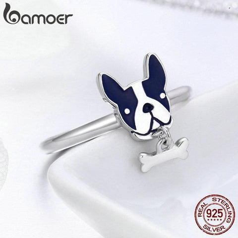 French Bulldog Ring with Done Bone Charm