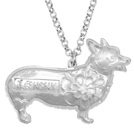 Back Side Of Corgi Necklace