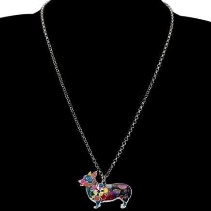 Colorful Corgi Necklace